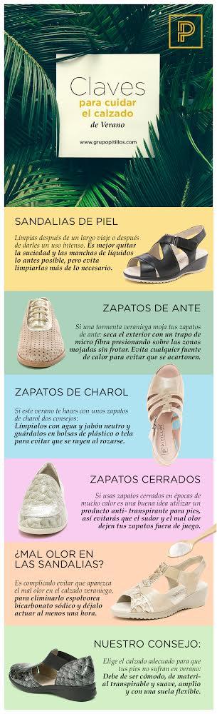 cuidados para zapatos en verano