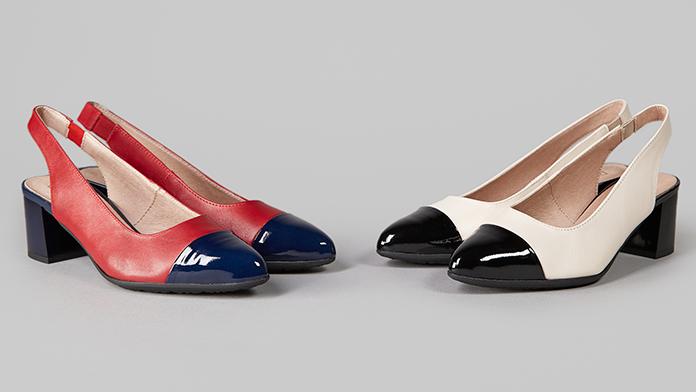 Zapatos de salón destalonado de la colección de verano